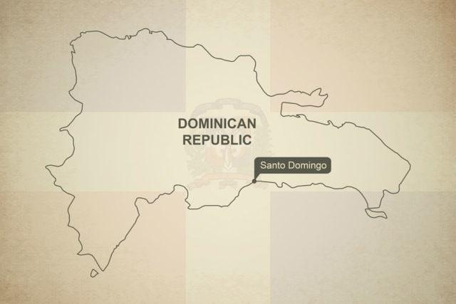 Mapa Dominikánská republika